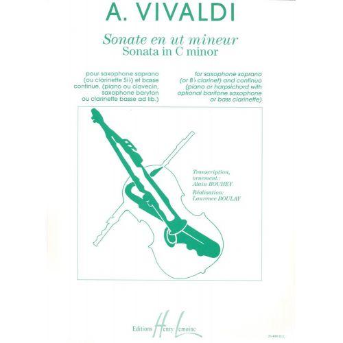 LEMOINE VIVALDI ANTONIO - SONATE EN UT MIN. RV53 - SAXOPHONE (SIB OU CLARINETTE), PIANO