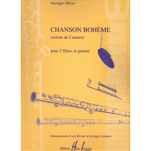 LEMOINE BIZET GEORGES - CHANSON BOHEME - 2 FLUTES, GUITARE