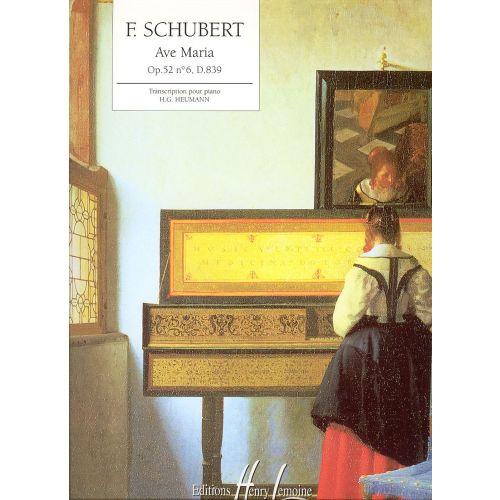 LEMOINE SCHUBERT F. - AVE MARIA OP.52 N°6 - PIANO