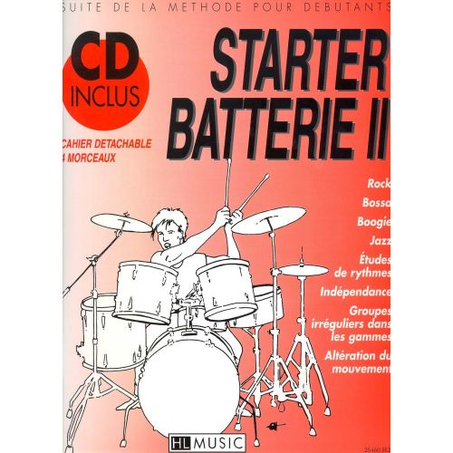 LEMOINE BILLAUDY PATRICK - STARTER BATTERIE VOL.2 + CD - BATTERIE