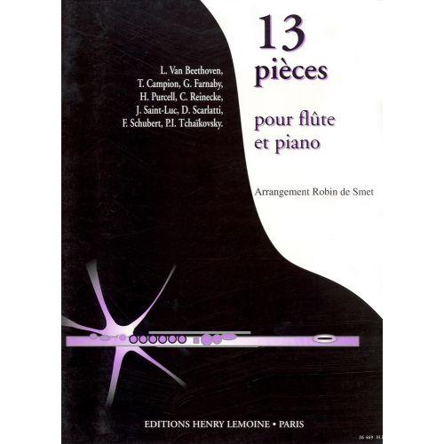 LEMOINE SMET ROBIN (DE) - PIECES (13) - FLUTE, PIANO