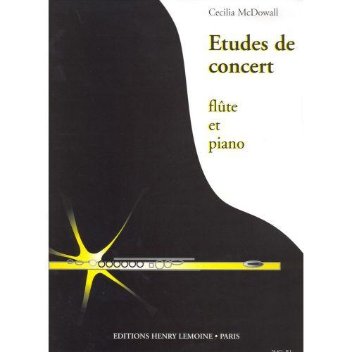 LEMOINE MCDOWALL CECILIA - ETUDES DE CONCERT (3) - FLUTE, PIANO