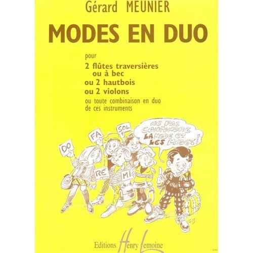 LEMOINE MEUNIER GERARD - MODES EN DUO - 2 FLUTES OU 2 HAUTBOIS OU 2 VIOLONS