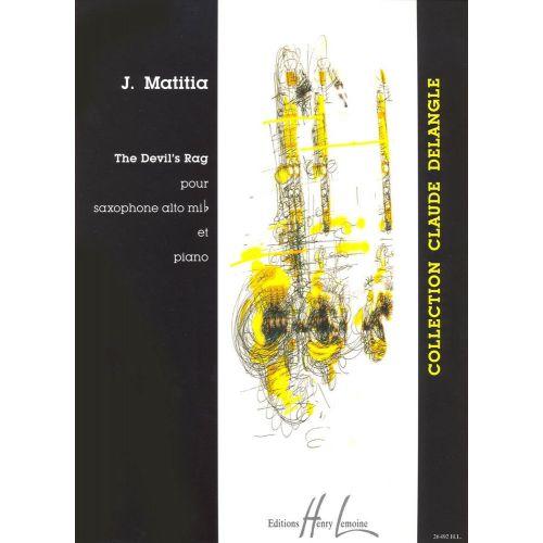LEMOINE MATITIA JEAN - DEVIL'S RAG - SAXOPHONE MIB, PIANO