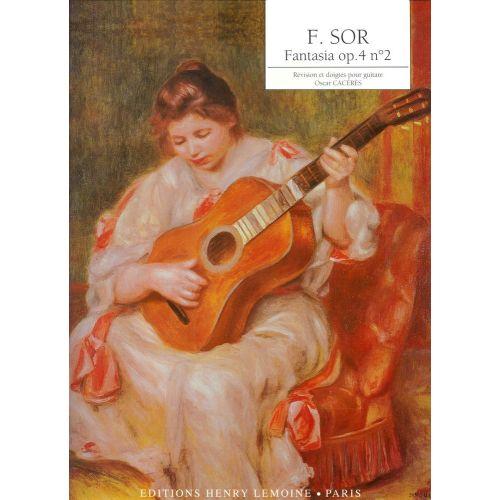 LEMOINE SOR FERNANDO - FANTASIA OP.4 N°2 - GUITARE