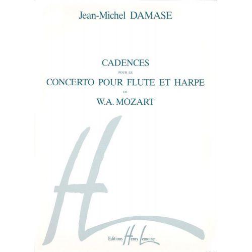 LEMOINE DAMASE JEAN-MICHEL - CADENCES DU CONCERTO POUR FLUTE ET HARPE DE MOZART - FLUTE, HARPE