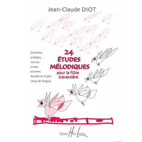 lemoine diot jean claude etudes melodiques 24 flute. Black Bedroom Furniture Sets. Home Design Ideas