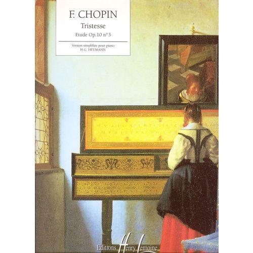 Etude 3 Tristesse Chopin: ETUDE OP.10 N°3 TRISTESSE