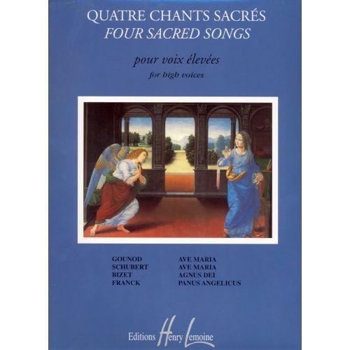 LEMOINE BONNARDOT JACQUELINE - CHANTS SACRÉS (4) - VOIX ELEVEE, PIANO