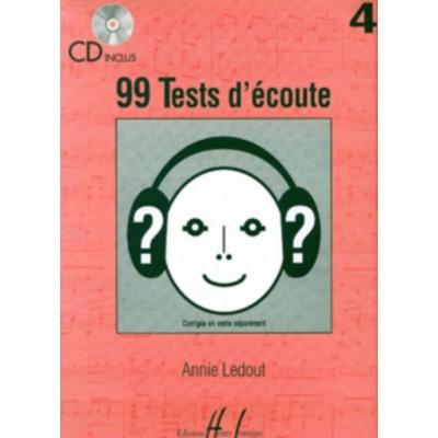 LEMOINE LEDOUT ANNIE - 99 TESTS D'ECOUTE VOL.4 + CD