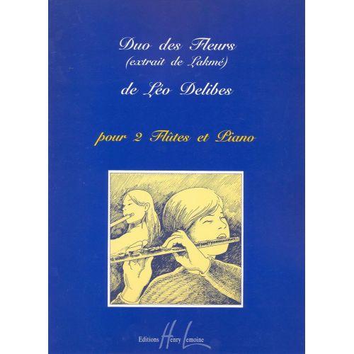 LEMOINE DELIBES LEO - DUO DES FLEURS EXTRAIT DE LAKME - 2 FLUTES, PIANO