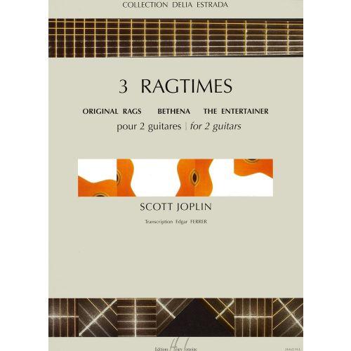 LEMOINE JOPLIN SCOTT - RAGTIMES (3) - 2 GUITARES