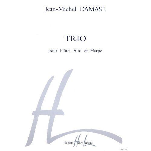LEMOINE DAMASE JEAN-MICHEL - TRIO - FLUTE, ALTO, HARPE