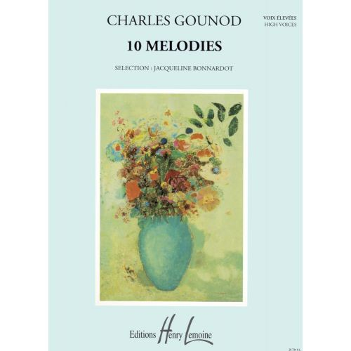 LEMOINE GOUNOD CHARLES - MÉLODIES (10) - VOIX ELEVEE, PIANO