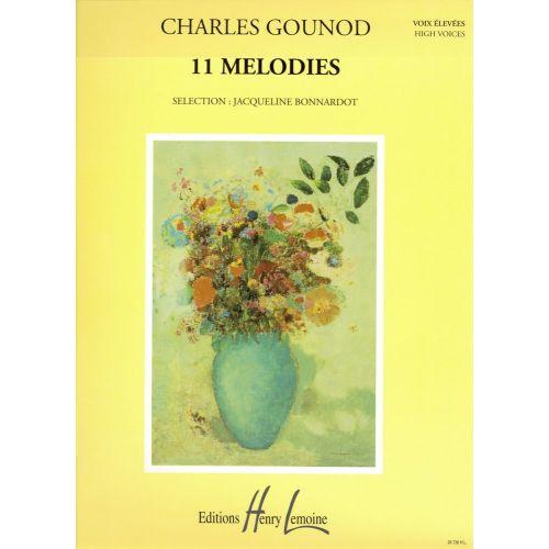 LEMOINE GOUNOD CHARLES - MÉLODIES (11) - VOIX ELEVEE, PIANO