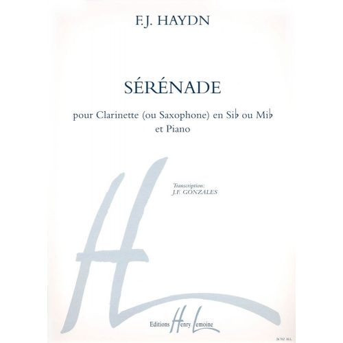 LEMOINE HAYDN J. - SERENADE - CLARINETTE SIB OU SAXOPHONE MIB, PIANO