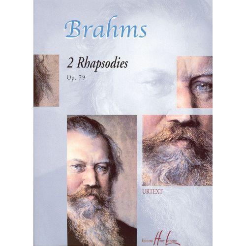 LEMOINE BRAHMS JOHANNES - RHAPSODIES (2) OP.79 - PIANO