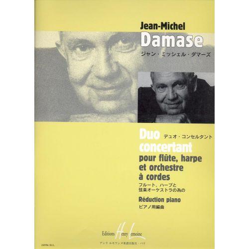 LEMOINE DAMASE JEAN-MICHEL - DUO CONCERTANT - FLUTE, HARPE, PIANO