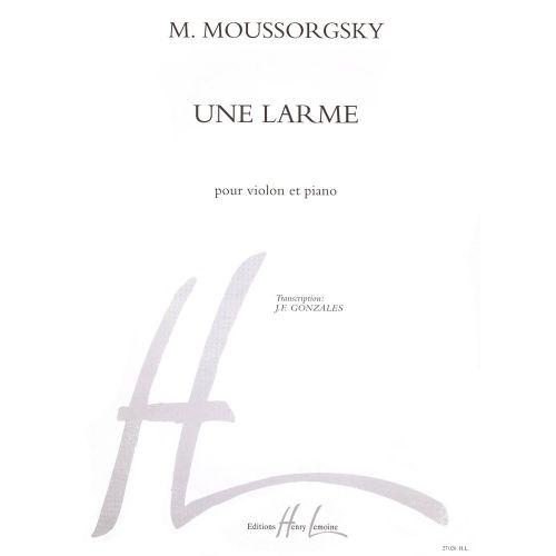LEMOINE MOUSSORGSKY M. - UNE LARME - VIOLON, PIANO