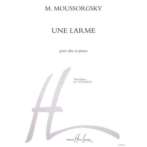 LEMOINE MOUSSORGSKY M. - UNE LARME - ALTO, PIANO