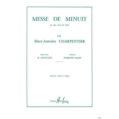 LEMOINE CHARPENTIER MARC-ANTOINE - MESSE DE MINUIT - PARTIE DE CHOEUR