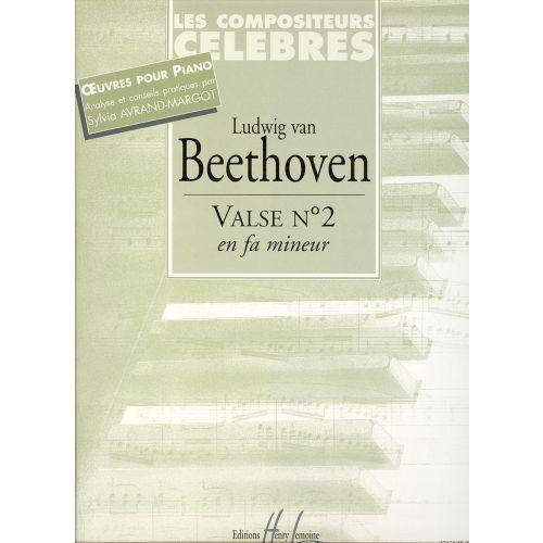 LEMOINE BEETHOVEN LUDWIG VAN - VALSE N°2 EN FA MIN. - PIANO