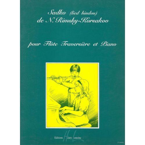 LEMOINE RIMSKY-KORSAKOV N. - LIED HINDOU EXTRAIT DE SADKO - FLUTE, PIANO