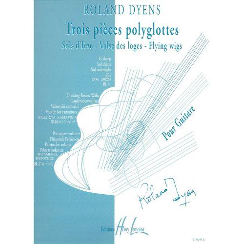 LEMOINE DYENS ROLAND - PIECES POLYGLOTTES - GUITARE