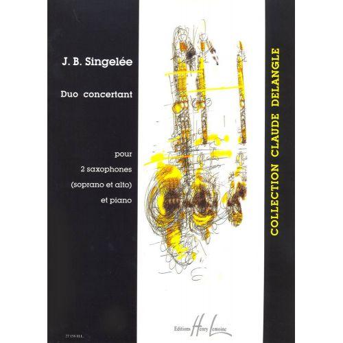 LEMOINE SINGELEE JEAN-BAPTISTE - DUO CONCERTANT OP.55 - 2 SAXOPHONES, PIANO