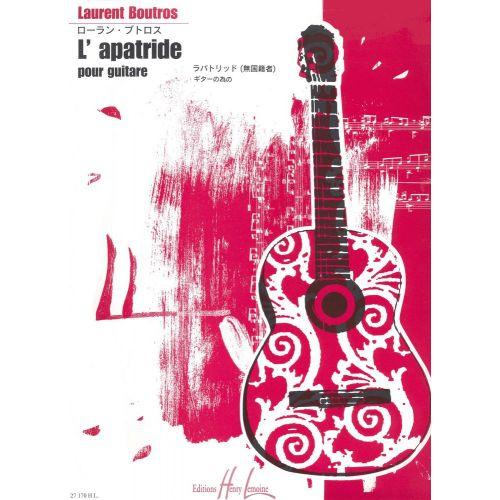 LEMOINE BOUTROS LAURENT - L'APATRIDE - GUITARE