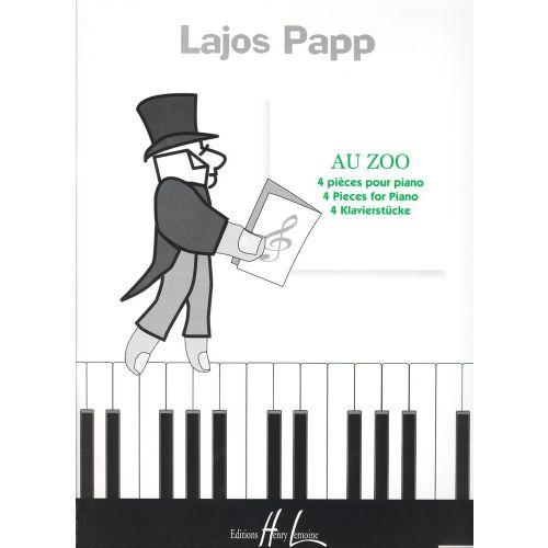 LEMOINE PAPP LAJOS - AU ZOO - PIANO