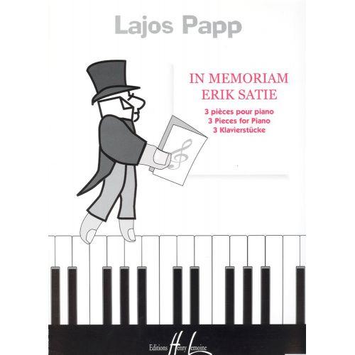 LEMOINE PAPP LAJOS - IN MEMORIAM ERIK SATIE - PIANO
