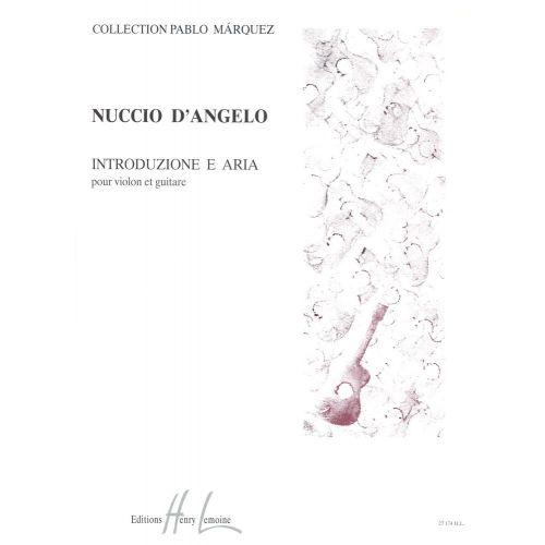 LEMOINE ANGELO NUCCIO (D') - INTRODUZIONE E ARIA - VIOLON, GUITARE