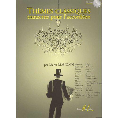 LEMOINE MAUGAIN MANU - THÈMES CLASSIQUES VOL.1 + CD - ACCORDEON