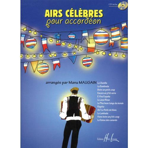 LEMOINE MAUGAIN MANU - AIRS CELEBRES + CD - ACCORDEON
