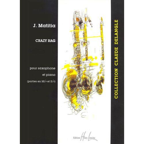 LEMOINE MATITIA JEAN - CRAZY RAG - SAXOPHONE (MIB OU SIB), PIANO
