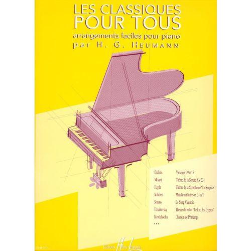 LEMOINE LES CLASSIQUES POUR TOUS - PIANO