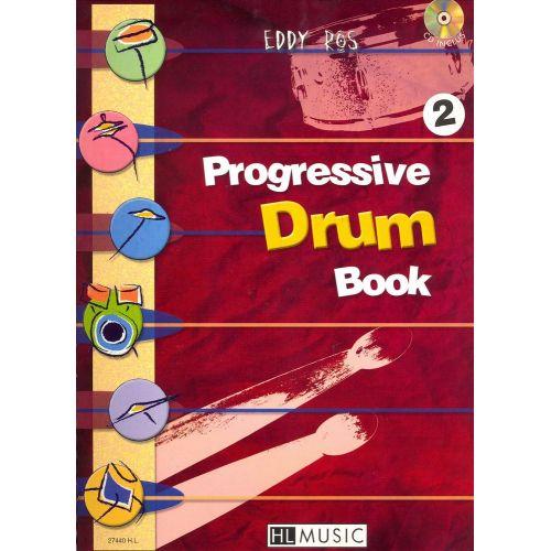 LEMOINE ROS EDDY - PROGRESSIVE DRUM BOOK 2 + CD - BATTERIE