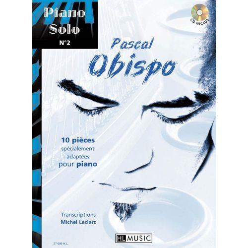 LEMOINE OBISPO PASCAL - PIANO SOLO N°2 : PASCAL OBISPO + CD