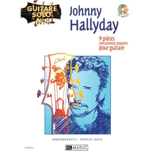 LEMOINE HALLYDAY JOHNNY - GUITARE SOLO N°4 : JOHNNY HALLYDAY + CD - CHANT, GUITARE