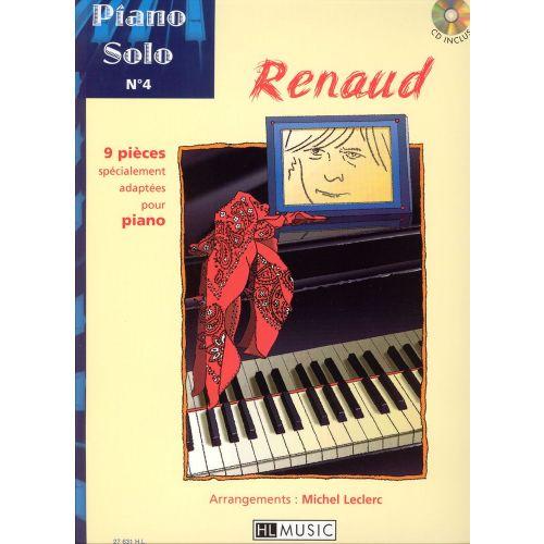 LEMOINE RENAUD - PIANO SOLO N°4 : RENAUD + CD - PIANO