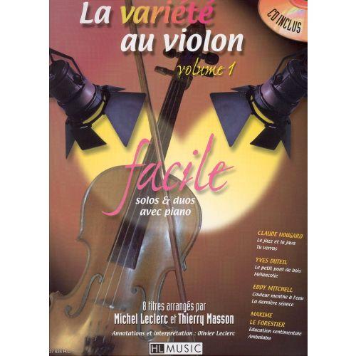 LEMOINE LECLERC M./ MASSON T. - LA VARIETE AU VIOLON VOL.1 + CD - VIOLON