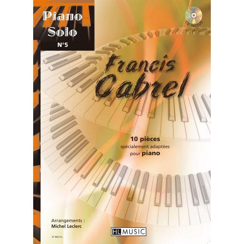 LEMOINE CABREL FRANCIS - PIANO SOLO N°5 + CD