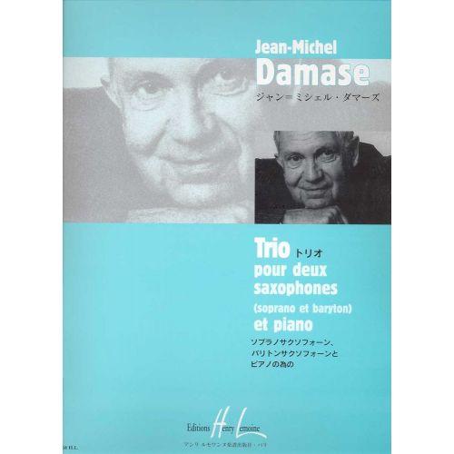 LEMOINE DAMASE JEAN-MICHEL - TRIO - 2 SAXOPHONES (SBAR), PIANO