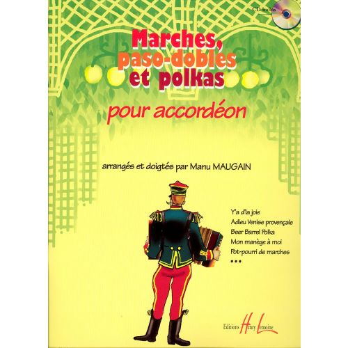 LEMOINE MAUGAIN MANU - MARCHES, PASO-DOBLES ET POLKAS + CD - ACCORDÉON
