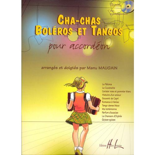LEMOINE MAUGAIN MANU - CHA-CHAS, TANGOS ET BOLÉROS + CD - ACCORDÉON