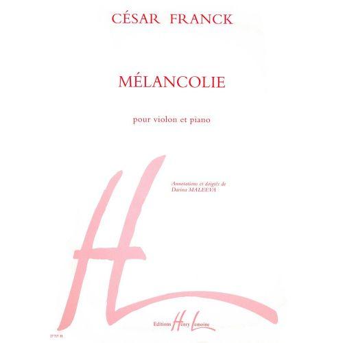 LEMOINE FRANCK CESAR - MELANCOLIE - VIOLON, PIANO