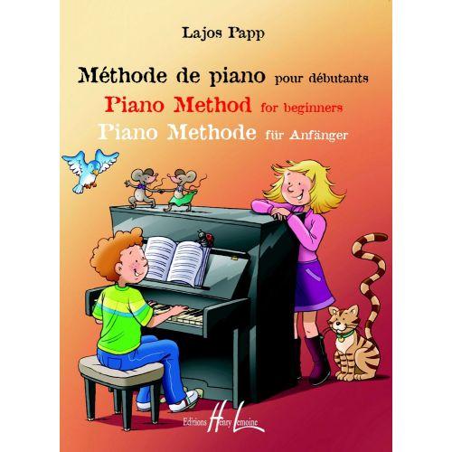 LEMOINE PAPP LAJOS - METHODE DE PIANO POUR DEBUTANTS