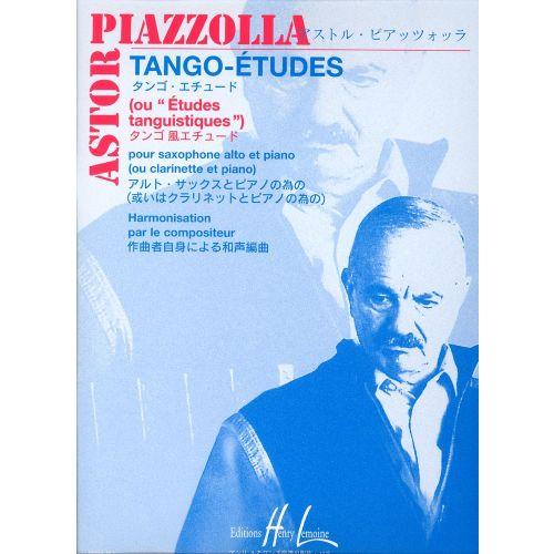 LEMOINE PIAZZOLLA ASTOR - TANGO - ETUDES (6) - SAXOPHONE, PIANO