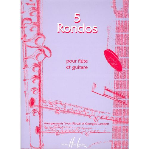 LEMOINE RONDOS (5) - FLUTE, GUITARE
